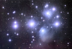 The Pleiades star cluster, NASA/courtesy of nasaimages.org